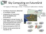 sky computing on futuregrid