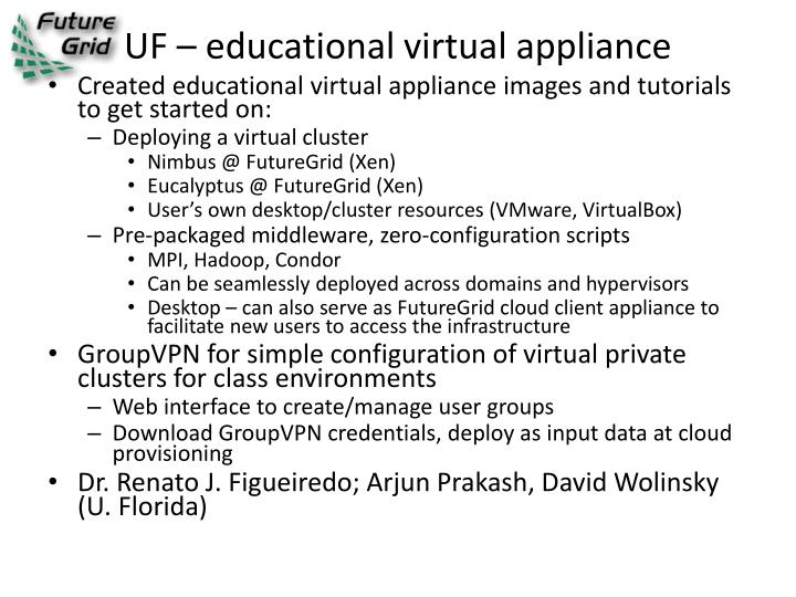 UF – educational virtual appliance