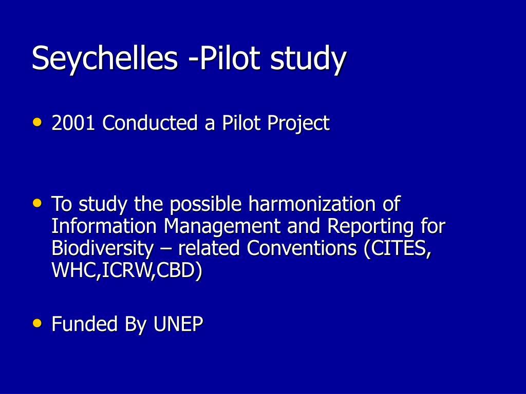 Seychelles -Pilot study