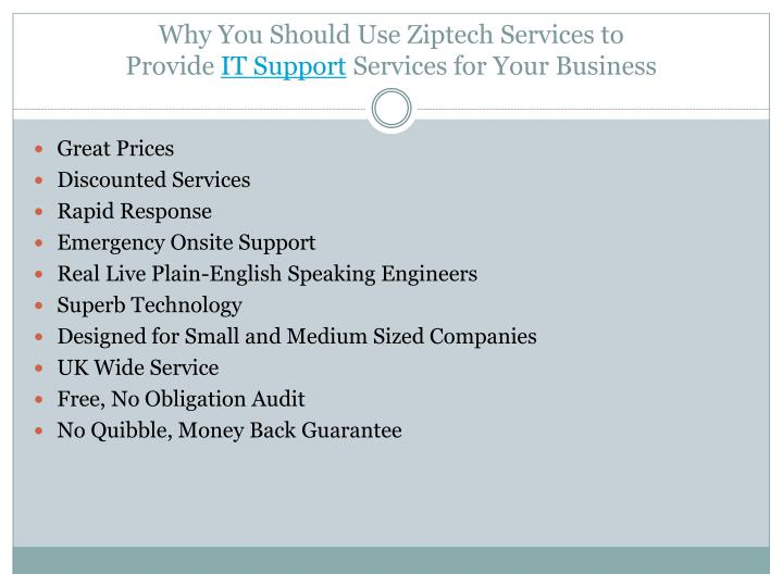 Why you should use ziptech services to provide it support services for your business