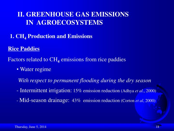 II. GREENHOUSE GAS EMISSIONS