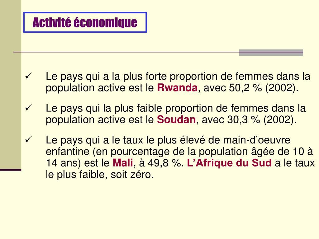 Activité économique