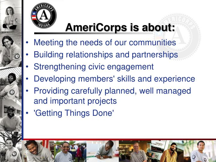 AmeriCorps is about: