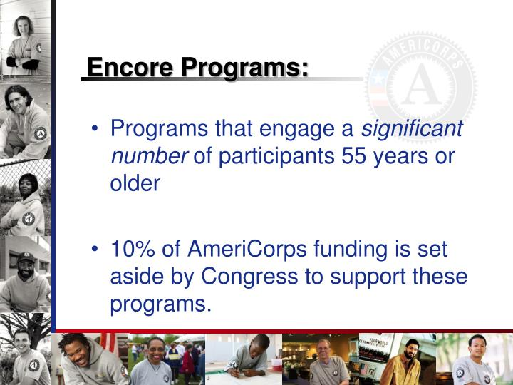 Encore Programs:
