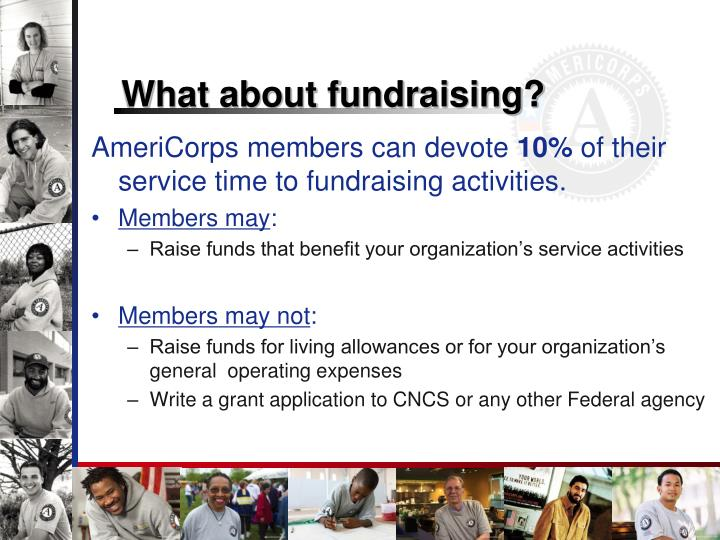 What about fundraising?
