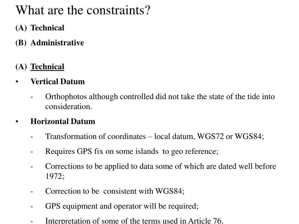 What are the constraints?