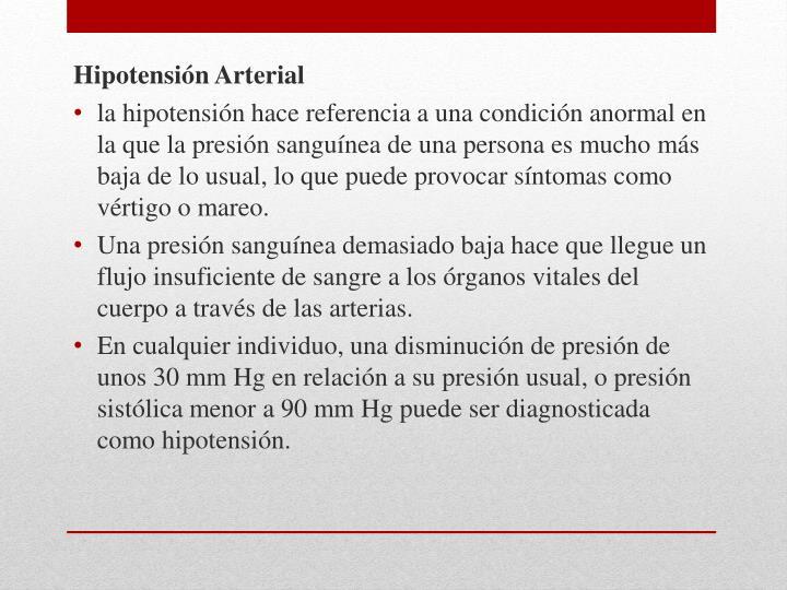 Hipotensión Arterial