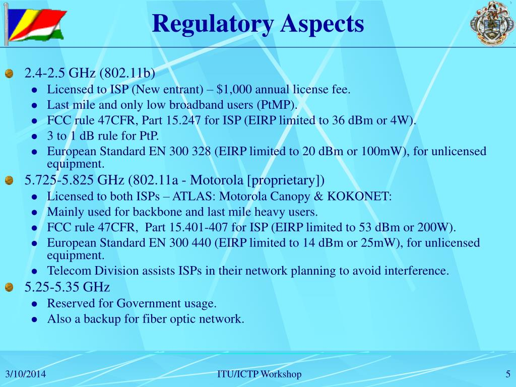 Regulatory Aspects