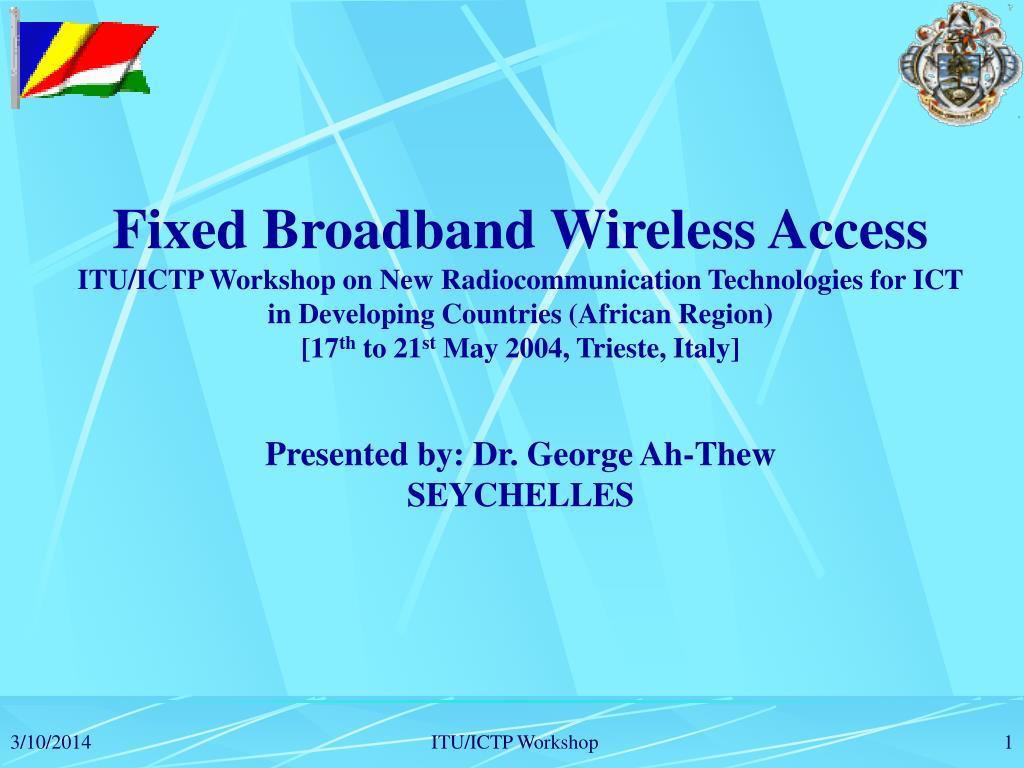 Fixed Broadband Wireless Access