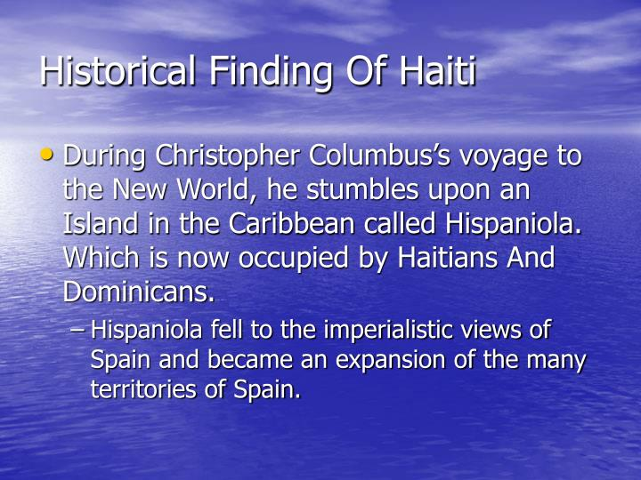 Historical finding of haiti