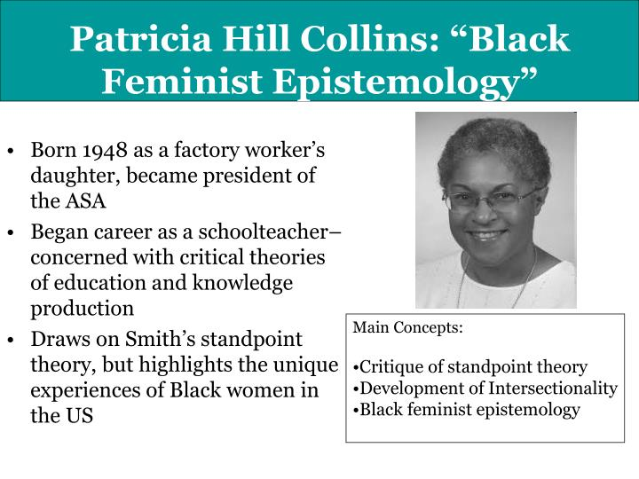black feminist thought by patricia hill collins From the author of the classic black feminist thought on intellectual activism patricia hill collins patricia hill collins speaks truth to the people and.