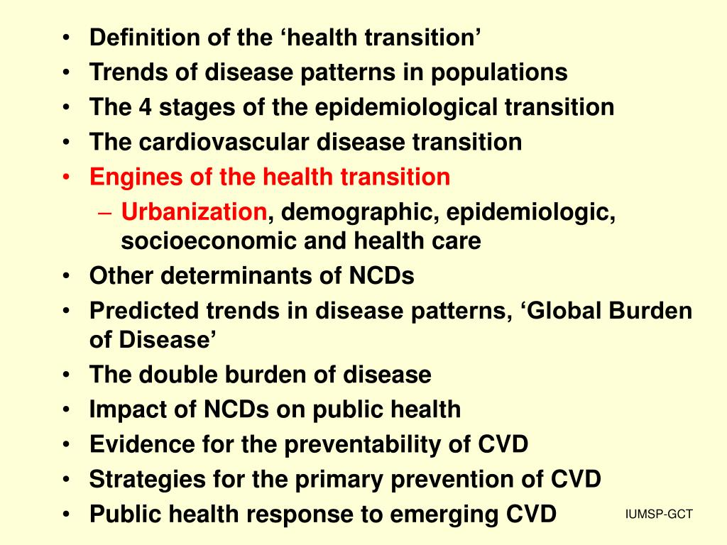 Definition of the 'health transition'