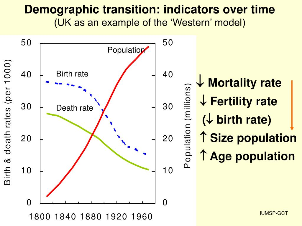 Demographic transition: indicators over time