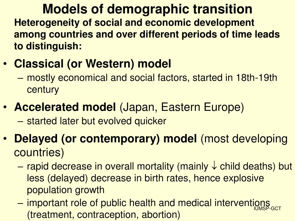 Models of demographic transition