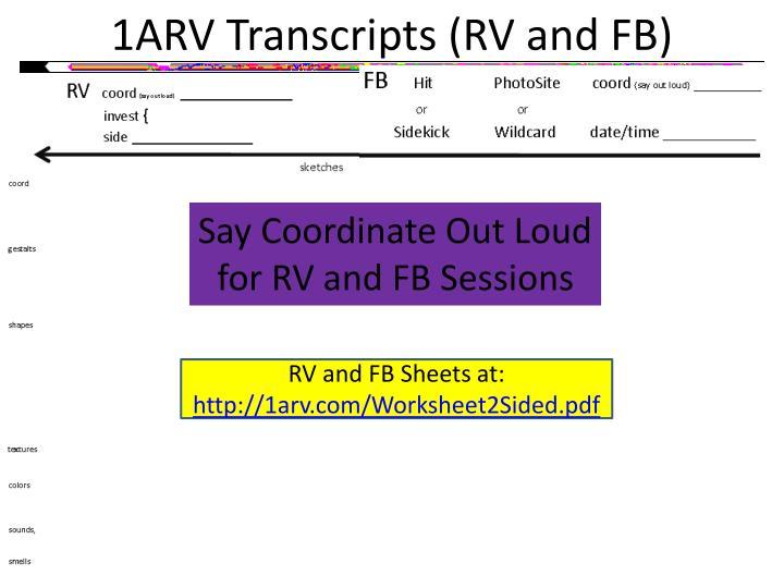 1ARV Transcripts (RV and FB)