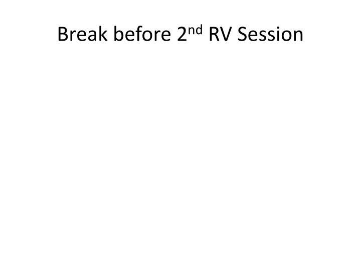 Break before 2