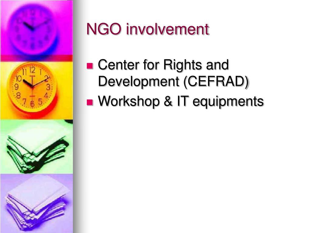 NGO involvement