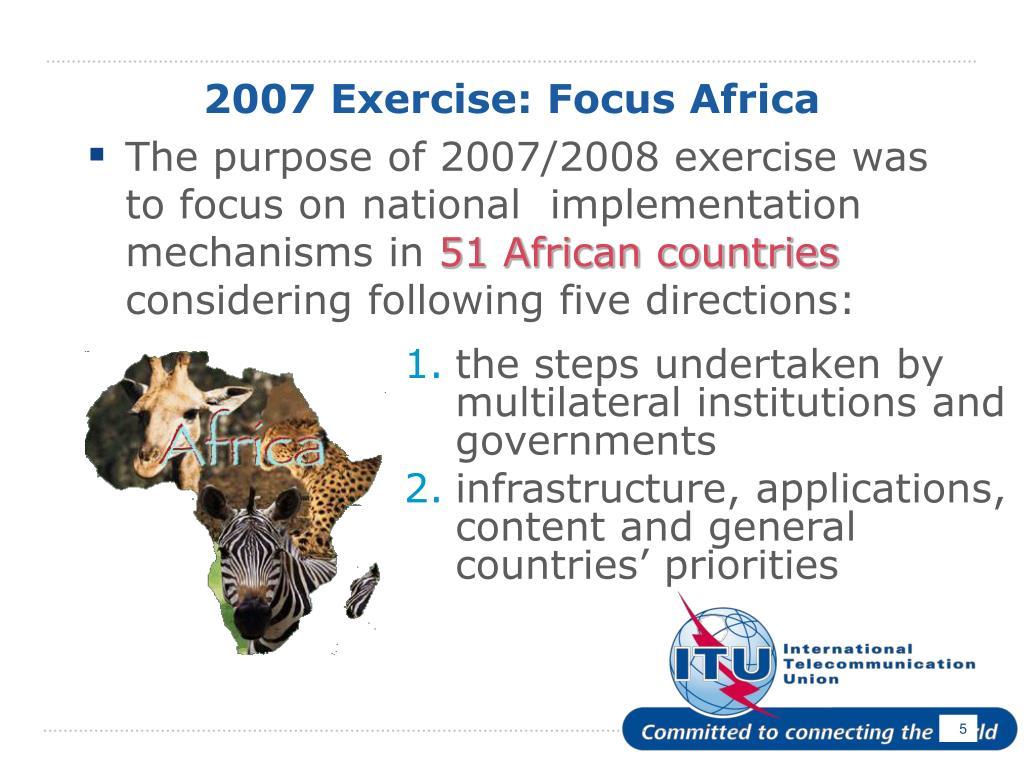 2007 Exercise: Focus Africa