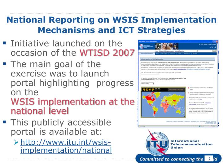 National reporting on wsis implementation mechanisms and ict strategies3 l.jpg