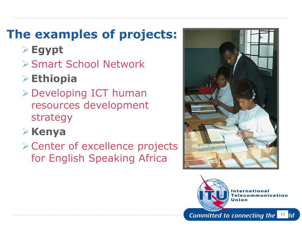 The examples of projects: