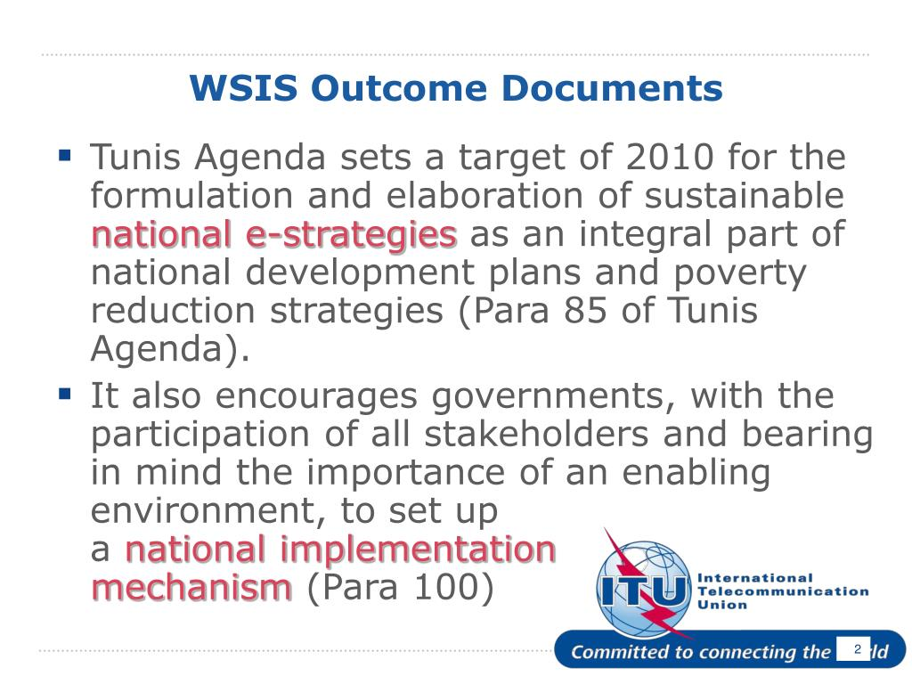 WSIS Outcome Documents