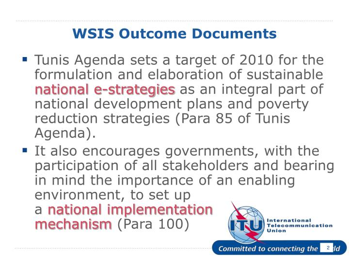 Wsis outcome documents l.jpg