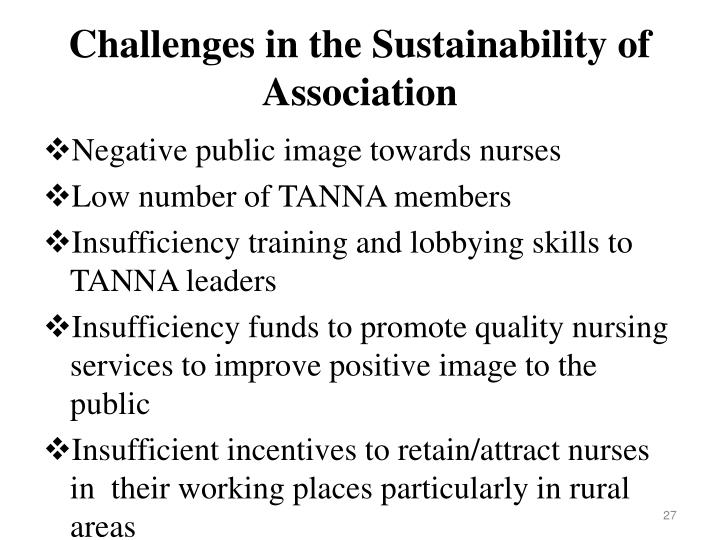 Challenges in the Sustainability of  Association