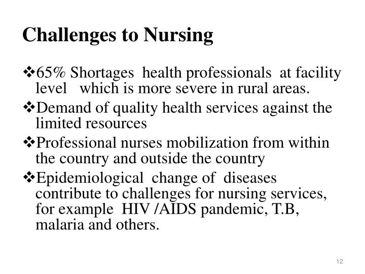 Challenges to Nursing