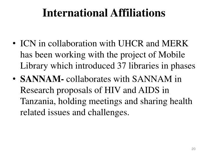 International Affiliations