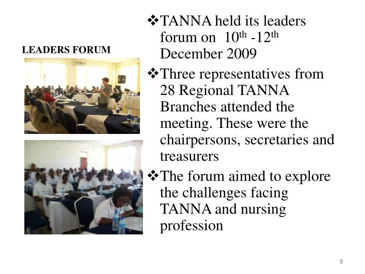 LEADERS FORUM