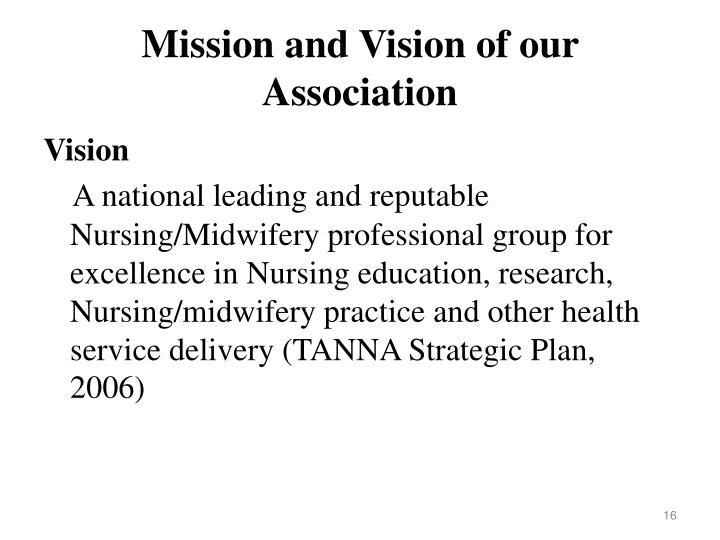 Mission and Vision of our Association