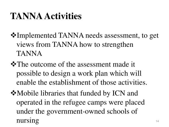 TANNA Activities