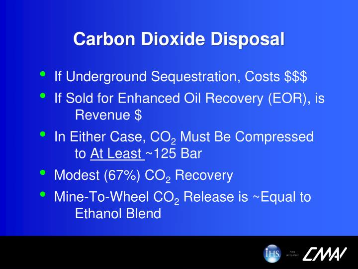 Carbon Dioxide Disposal