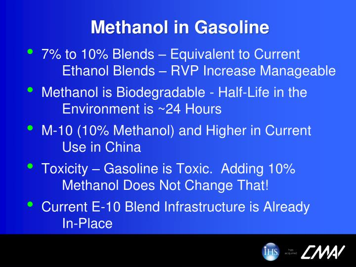 Methanol in Gasoline