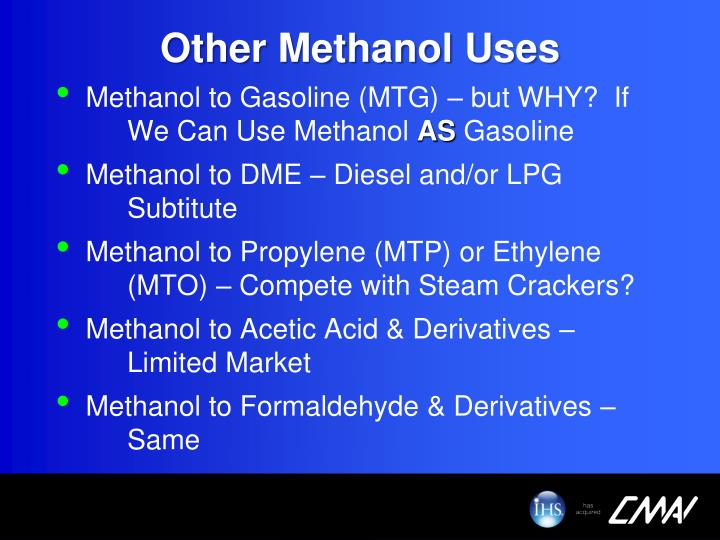 Other Methanol Uses