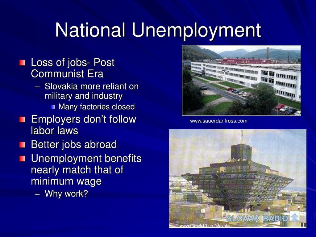 Loss of jobs- Post Communist Era