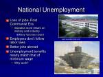 national unemployment