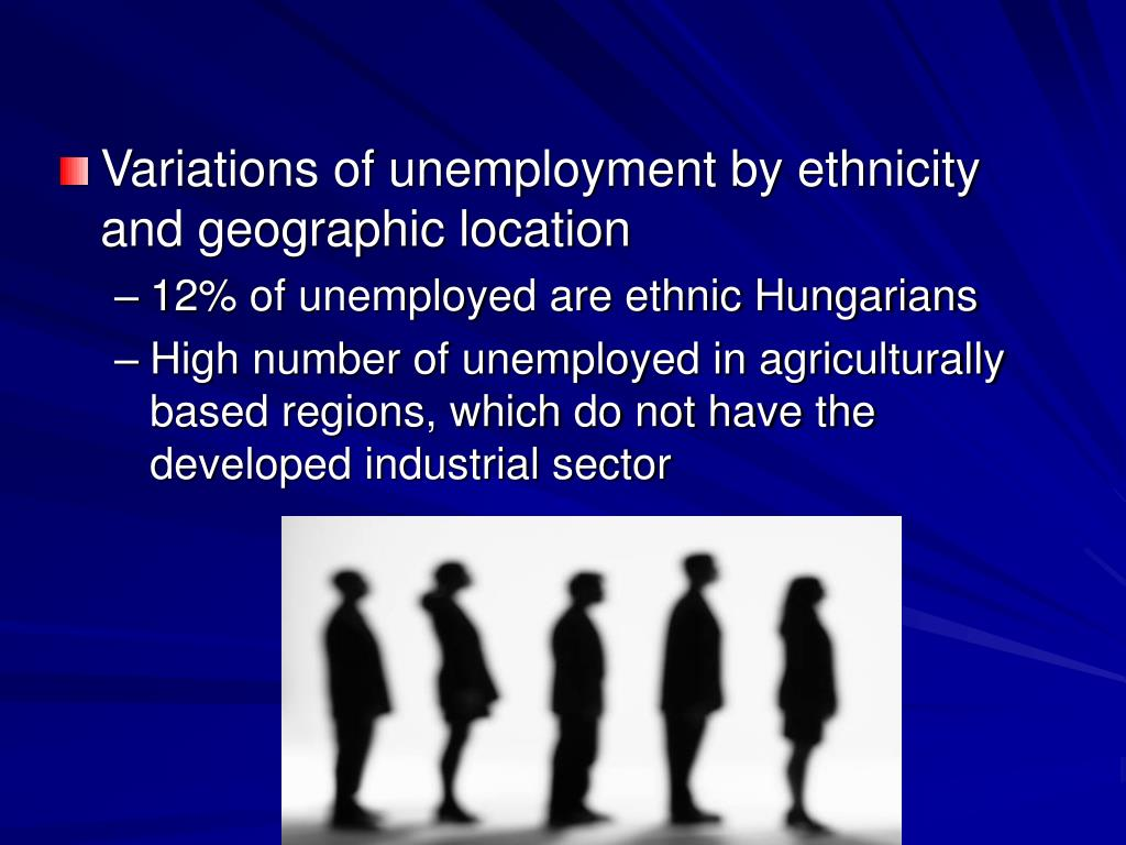 Variations of unemployment by ethnicity and geographic location