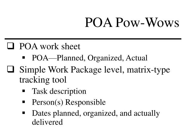 POA Pow-Wows