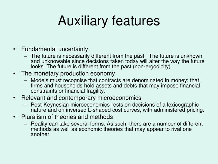 Auxiliary features
