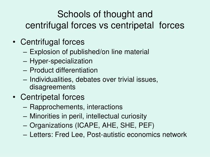 Schools of thought and