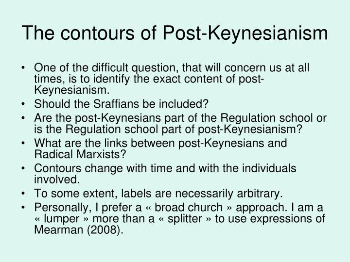 The contours of Post-Keynesianism