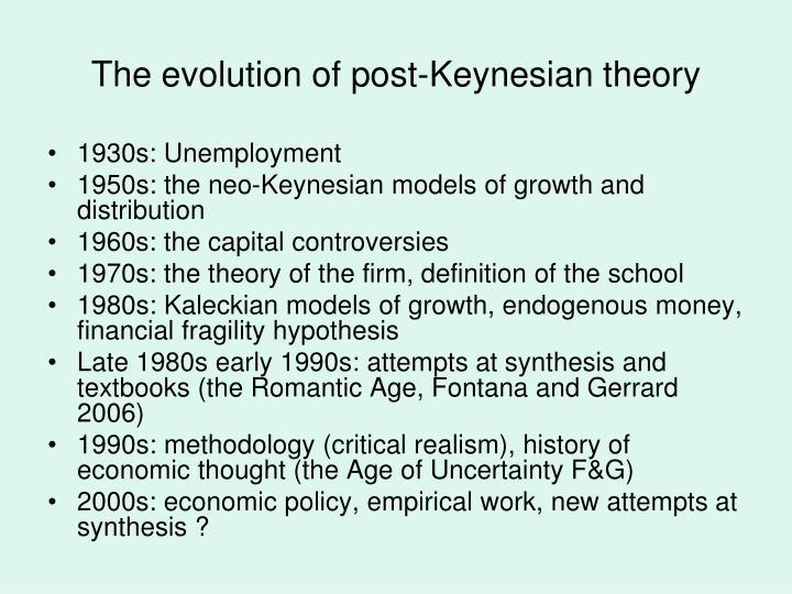 The evolution of post-Keynesian theory