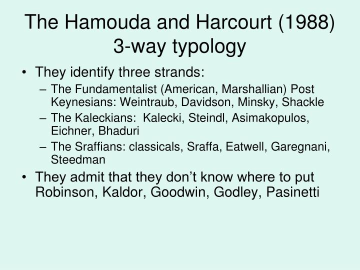 The Hamouda and Harcourt (1988) 3-way typology