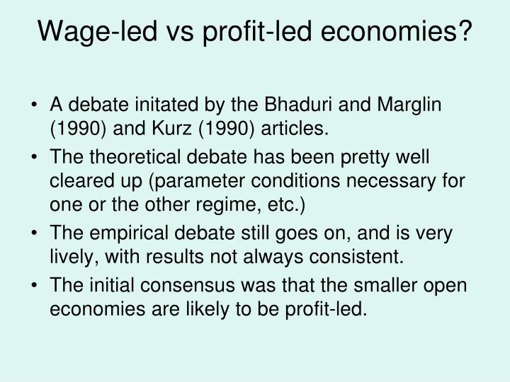 Wage-led vs profit-led economies?