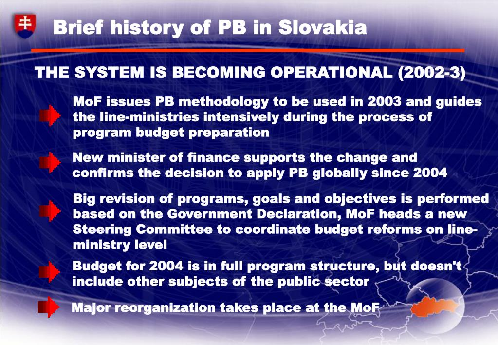 Brief history of PB in Slovakia