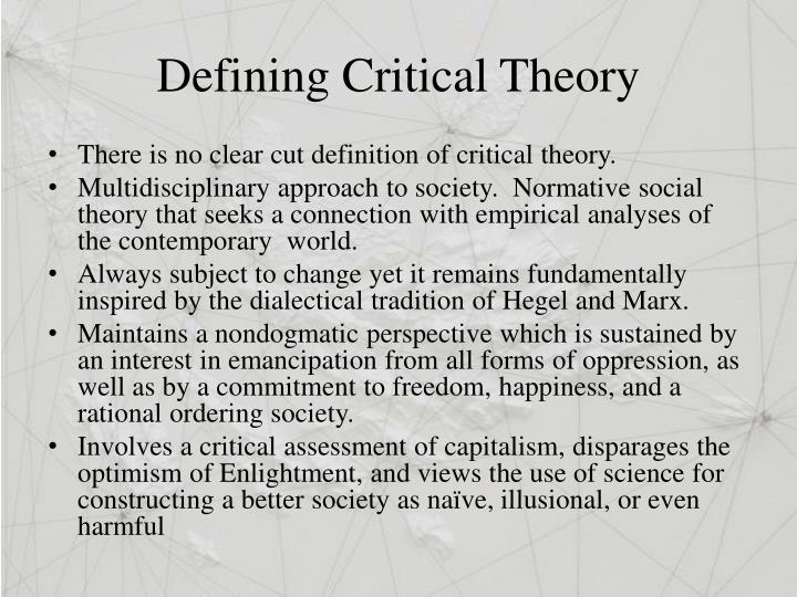 Defining Critical Theory