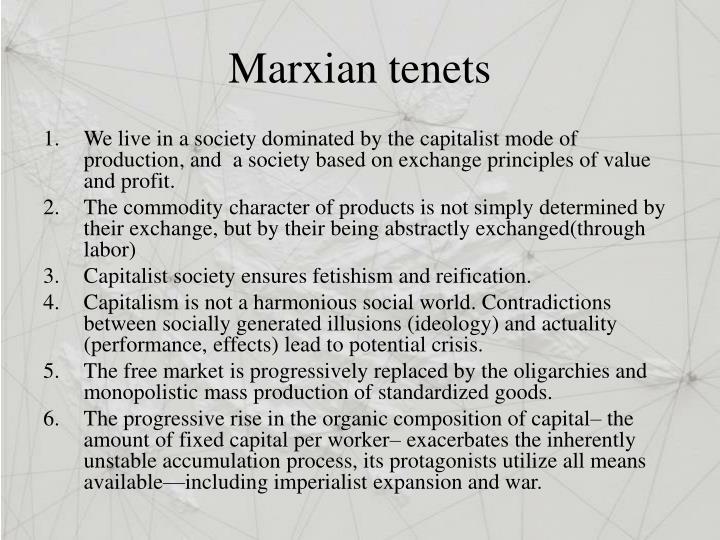 Marxian tenets