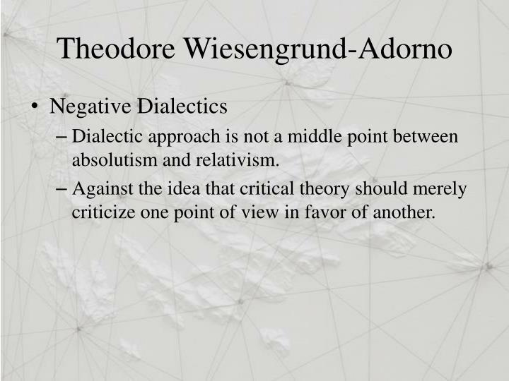 Theodore Wiesengrund-Adorno