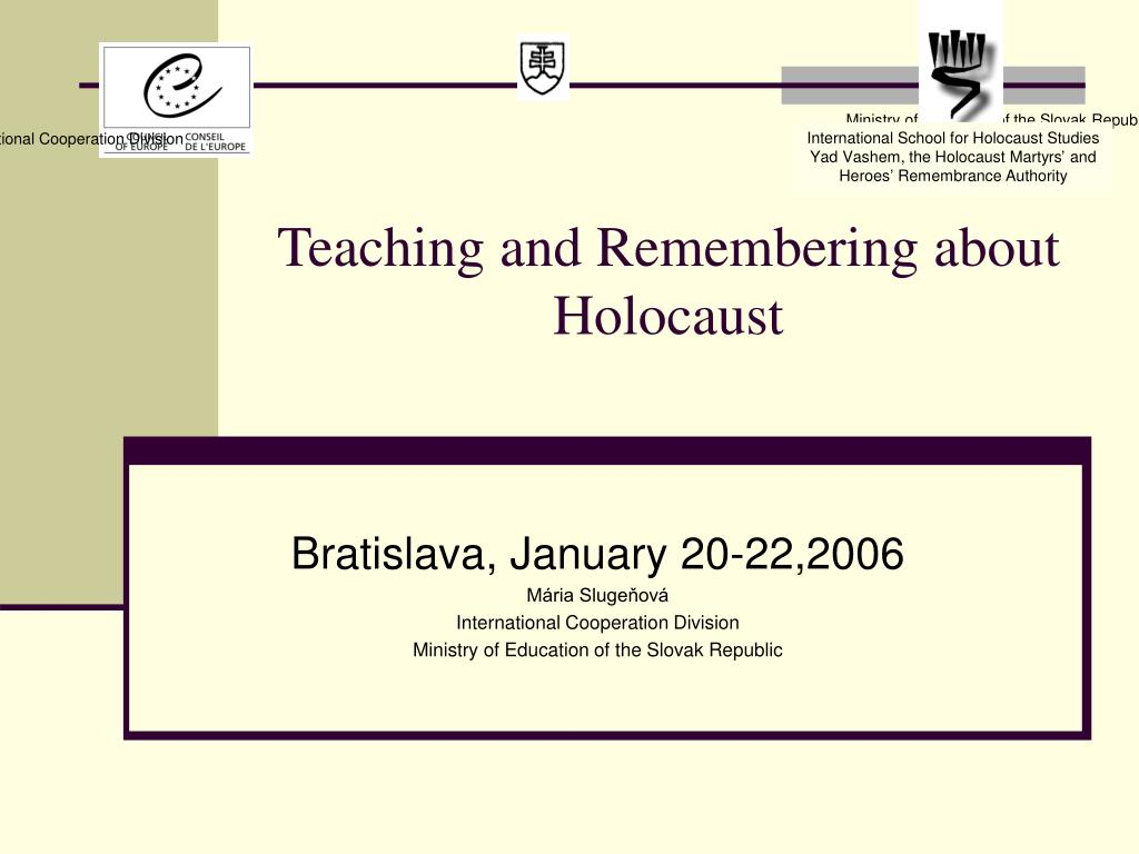 teaching and remembering about h olocaust